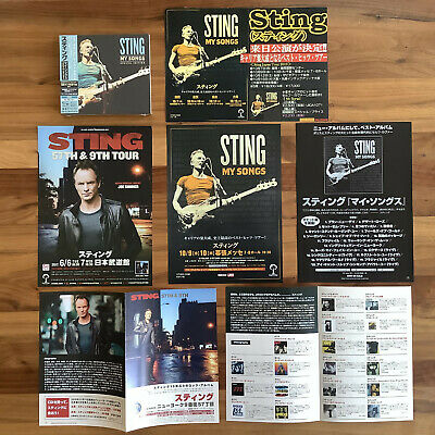 Last Japan Shop Banner! 12 Bonustr! Special Ed 2 Shm-Cd+5Flyers! Sting My Songs