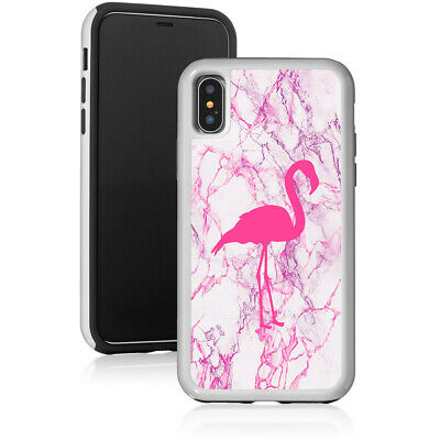 Marble Shockproof Hard Case Cover Protector For Apple iPhone Flamingo