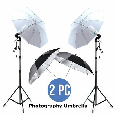 "4x33"" Photo Video Studio Umbrella Reflector Photography Stand Lighting Kit TO"