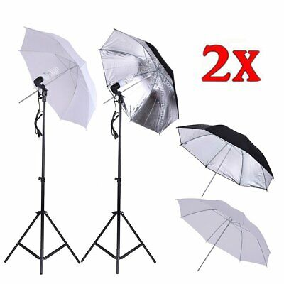 "Adjust 33"" Photography Stand Umbrella Light Kit Photo Video Studio Umbrella WO"