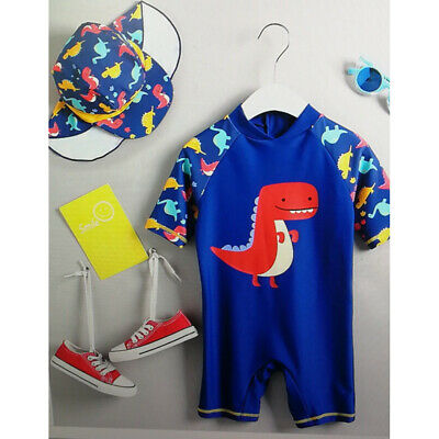 Newborn Baby Kid Boy Sun Protective Swimwear Rash Guard Bathing Suit Set Costume