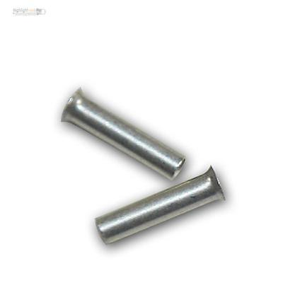 500 Ferrules Uninsulated Silver Plated 1,0mm ² 6mm, Wire End
