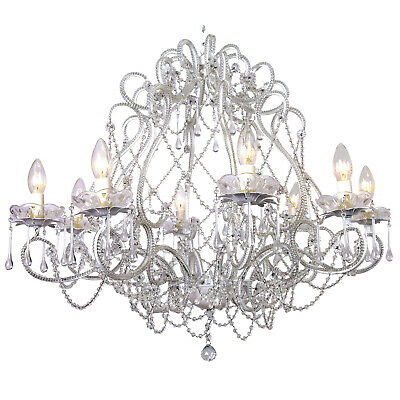 NEW Layla Jane Raindrop 8 Light Chandelierin White