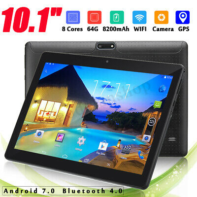 """10.1"""" bluetooth 4G+64GO Android 7.0 HD IPS Tablette PC Octa 8 Core WIFI Dual SIM"""