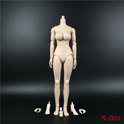 """1/6 N001 Female Pale Large Busts Figure Body Fit 12"""" Hot Toys Phicen Head Toy"""