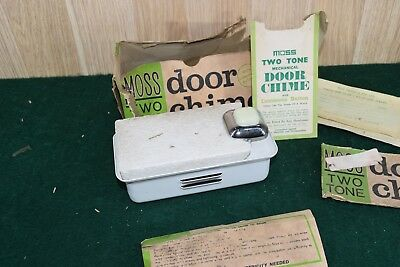 Vintage Retro Moss Two Tone Door Chime NEW OLD STOCK