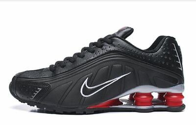 Mens Black And Red Nike Shox R4  Athletic  Shoes Sizes 7-11