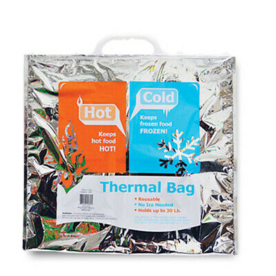 """19"""" Hot/Cold Insulated Thermal Food Storage Reusable Lunch Cooler Bag Grocery"""
