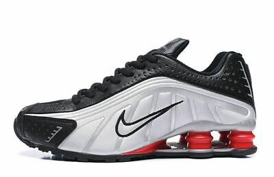 Mens Silver & Black Nike Shox R4  Athletic  Shoes Sizes 7-11