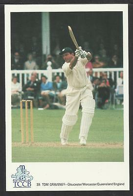 TOM GRAVENEY -- GLOUCESTER/WORCESTER/QUEENSLAND/ENGLAND. TCCB  POSTCARD No. 39.