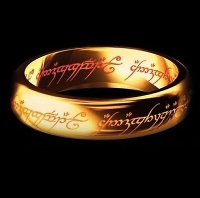 Lord Of The Rings, Hobbit Ring. The One Ring To Rule Them All Size 12