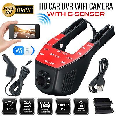 Wifi Car Hidden 1080P DVR Front And Rear Dash Cam Camera Video Recorder G-Sensor