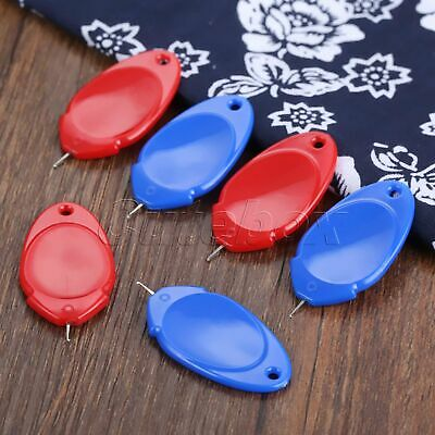10Pcs 4cm Needle Threader Plastic Red/Blue Elderly Use Thread Guide Sewing Tool