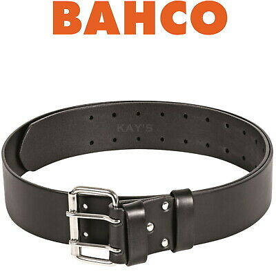 "BAHCO SUPER TOUGH 2"" WIDE BLACK LEATHER WORK TOOL BELT 30"" To 48"", 4750-HDLB-1"