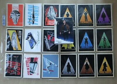 Star Wars (Hans) Solo - A Star Wars Story Trading Cards Full Base Set & Chase