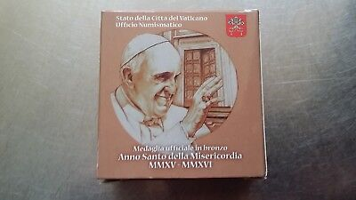 Vatican Bronze Medal , The Holy Year of Mercy With C.O.A , in original box
