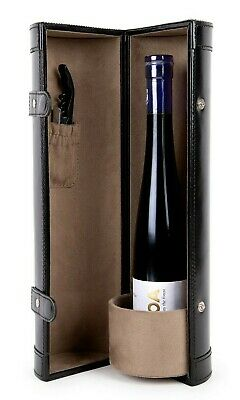 One Bottle Real Leather Wine Protector Carrier Bag Gift Luxury Accessory Travel