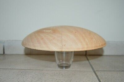 Large Button shaped Wooden hat block/ Fascinator 275 mm