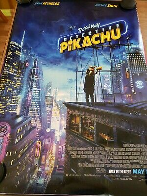 Pokemon Detective Pikachu 27x40 Double Sided Movie Theater Poster FINAL