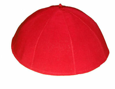 Rot Solideo, Red zucchetto, Solideo , Calotte, Chasuble,Vestment,ZU-0C