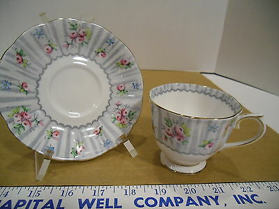 Royal Albert English Bone China Debutante Tea Cup & Saucer Set - EUC