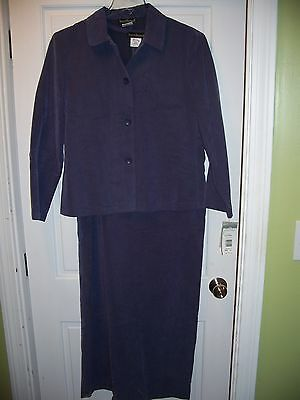 NWT Harve Bernard Purple 2 Piece Dress Suit Jacket & Long Dress Size 12
