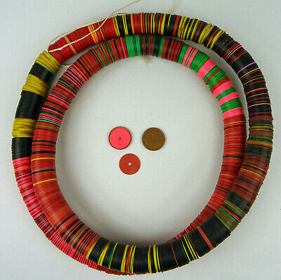 W-Afrika Multicolor Vinyl Beads Discs Heishi Trade Beads Kauri Africa Afrique