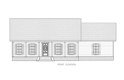 Ranch House Plans 1650 SF 3 Bed 2 Bath Open Floor - Split Bedrooms (Blueprints)