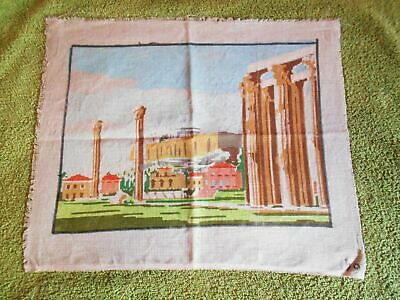 ANCIENT GREEK MONUMENT PRINTED TAPESTRY NEEDLEPOINT CANVAS 24x33cm
