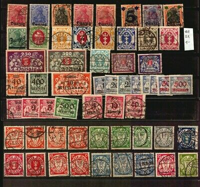 Germany Freie Stadt Danzig used stamp lot excellent catalogue value Euro 380