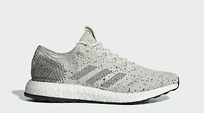 buy online 14244 12bd1 New Adidas Pure Boost B37774 Ivory Grey White Running Shoes Men s 12M NEW  IN BOX