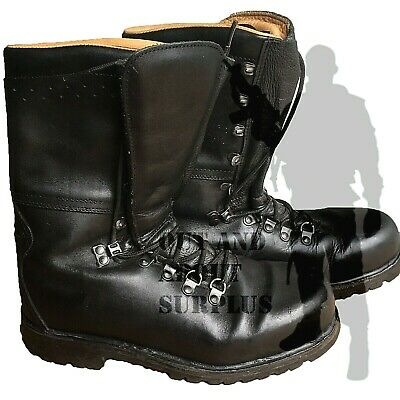 Austrian Heavyweight High Leg Black Combat Army Boots Leather Lined