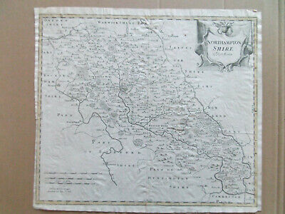 Northamptonshire Antique Map By Robert Morden Dated 1695 Camdens Britannica