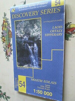 Ordnance Survey Ireland Discovery Series map  No 54 Laois Offaly Tipperary