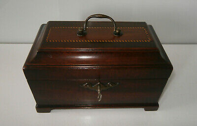Beautiful Antique Georgian Chippendale Period Tea Caddy Complete Interior c1750