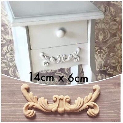 Shabby Chic Furniture Drawer Resin Applique Scroll Moulding Swag