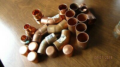 """Assorted Copper Fittings 3/4"""" And 1"""""""