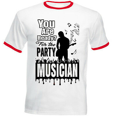 Musician - New Red Ringer Cotton Tshirt