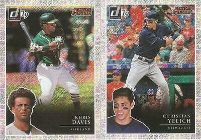 2019 Donruss Khris Davis Action All-Stars Rapture Parallel Insert Card #Aa9
