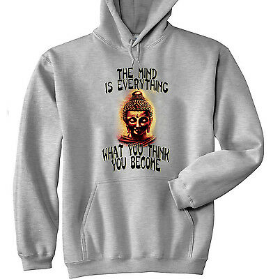 Buddha The Mind Quote - New Cotton Grey Hoodie