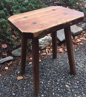 Antique Conant Ball Co. Wooden Stool Boston MA Rectangular Top