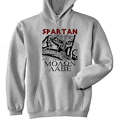 Sparta Leonidas Warrior 2 - New Cotton Grey Hoodie