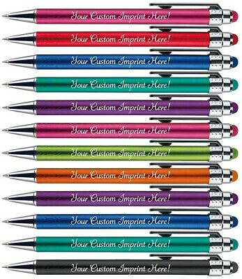 Assorted bright lights Custom Personalized stylus Pens Imprinted name ink pens.