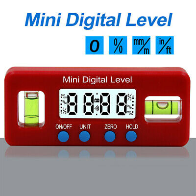 Digital Protractor Gauge Level Angle Finder Inclinometer Magnet Base with level