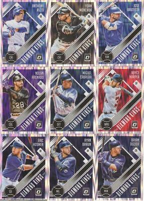 2018 Donruss Optic Shock Prizm Holo Parallels W/Variations & Rc's ***You Pick***