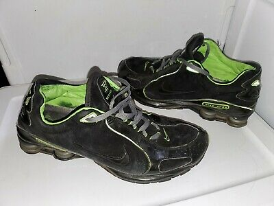 023b47ac81 Nike Shox Mens Athletic Running Shoes Size 13 Lime Green & Black Suede  Leather