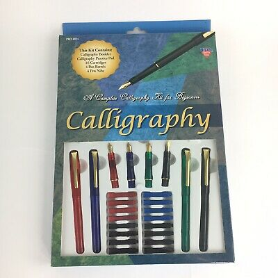 Complete Calligraphy Pen Starter Kit For Beginners w/Instruction Booklet