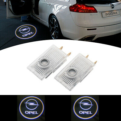 2x Car Door Light Fit Opel Cree LED Projector Puddle Courtesy LOGO Entry Light