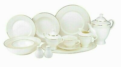 44202c0cc832 Euro Porcelain 57-pc Dinnerware Set 'Stardust Gold' 24K Bone China Service  for