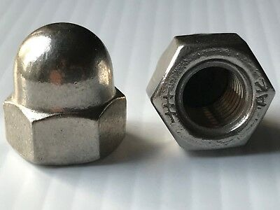 M12-1.75 Acorn Cap Hex Nut 18-8 Stainless Steel A2 (QTY 1-2-4-6-10) Metric 12mm